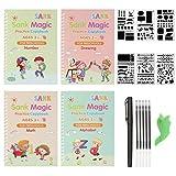 Sank Magic Practice Copybook for Kids - Number & Letter Tracing Book, Drawing & Math Practice Books - Reusable Handwriting Workbook for Preschoolers & Kindergarten Kids Ages 3-6