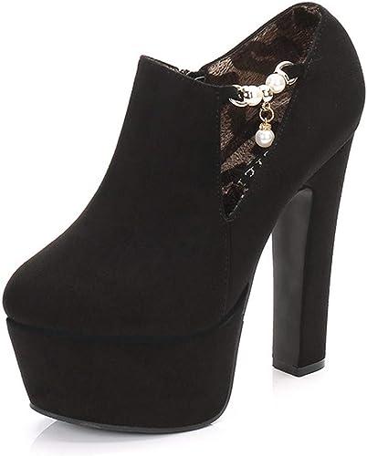 HBDLH Chaussures pour Femmes Sexy Boîte De Nuit avec des 14Cm Boîtes Déteste Le Ciel Les épais De Plate-Forme Super Talon Haut Bas épais Talon Nu des Boîtes.