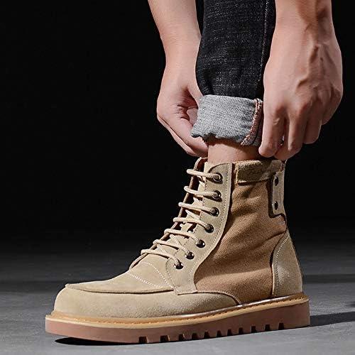 LOVDRAM Bottes Homme Hiver Nouveaux Hommes Chaussures Rétro Outillage Bottes Hommes Mode Martin Bottes Mode Décontracté en Plein Air Chaussures Hautes