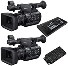 Sony 2 Pack PXW-Z190 Compact 4K 3-CMOS 1/3-type Sensor XDCAM Camcorder MCX-500 4-Input Streaming Switcher, RM-30BP Wired Remote Controller
