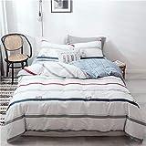 BFMBCH New heiß Baumwolle gestreiften vierteilige Bettlaken Einzel Doppelbett A 150cm * 200cm
