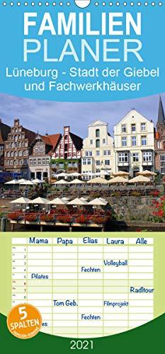 Lüneburg - Stadt der Giebel und Fachwerkhäuser - Familienplaner hoch (Wandkalender 2021, 21 cm x 45 cm, hoch)