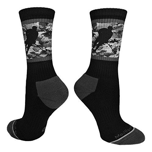 MadSportsStuff Hockey Player Athletic Crew Socks (Multiple Colors)