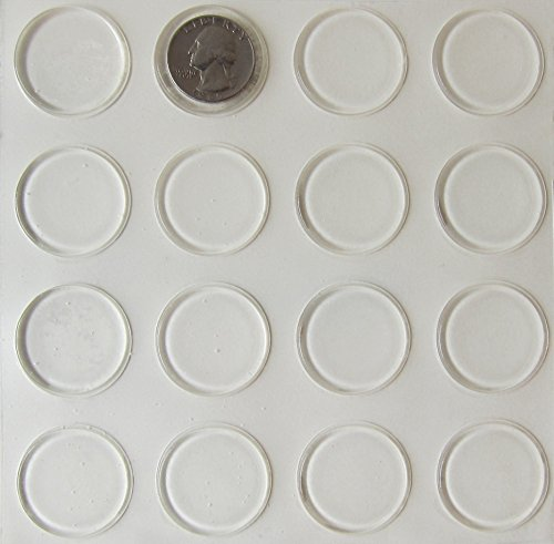 Glass Table Top Bumpers 16 Pack Thin Clear Bumper Pads 1 23 Inch Round Rubber Bumpers Self Adhesive Glass Table Rubber Feet Glass Table Top Spacers Buy Online