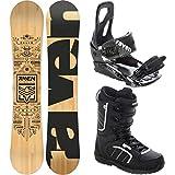RAVEN Snowboard Set: Snowboard Solid + Bindung s200 Black + Boots Target (168cm Wide + s200 M/L +...