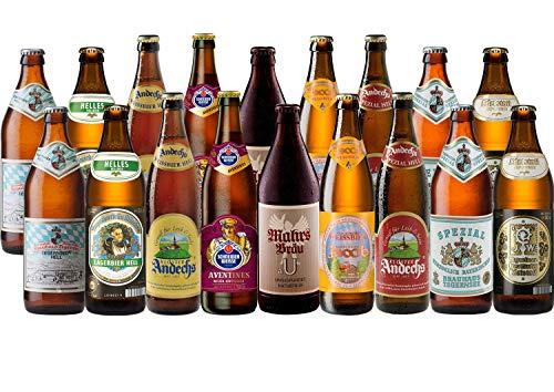 Bayrisches Bier Paket mild mit 18 Bierflaschen