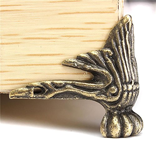 HuaYang Bureau bord Lot de 4 Coins de Protection Antique bois décoration