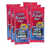 Hefty One Zip Travel Bags, Quart Size, 7 Count, TSA Approved (Pack of 6)