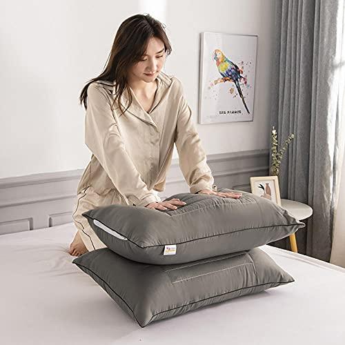 Almohada, Almohada de Diseño Ergonómico, Adecuada para Todos los Durmientes -Gris_One Pack 48 * 74cm