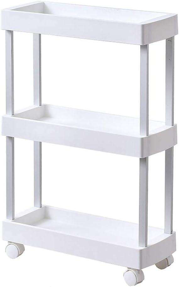 Wheel Cheap mail order sales Standing Austin Mall Shelf Narrow Mobile Slot Layering Detachable Seam