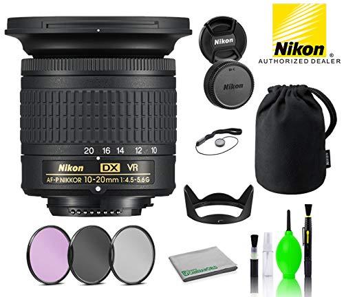 Nikon AF-P DX NIKKOR 10-20mm f/4.5-5.6G VR Lens USA (20067) with Bundle Package Deal Kit Includes: 3PC Filter Kit + Deluxe Lens Cleaning Kit + More