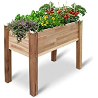 Jumbl Raised Canadian Cedar Garden Bed Elevated Wood Planter
