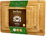 Bamboo Cutting Board Set with Juice...