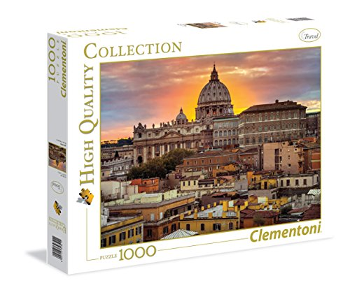 Clementoni 39341 - Puzzle Roma Assaf, 1000 Pezzi, Multicolore