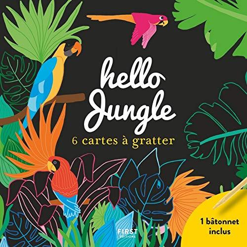 Hello jungle - 6 cartes à gratter