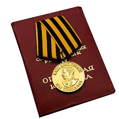 JXS Réplica de Guerra patriótica Alemana, Victoria de Guerra sobre la Medalla de Alemania, con Caja de Almacenamiento, colección de Fans Militares de Medalla de aleación