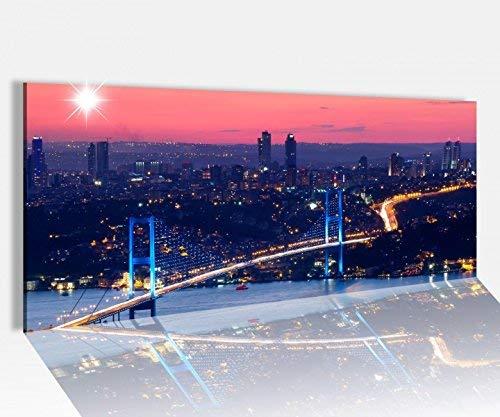 Acrylglasbild 100x40cm Skyline Istanbul Brücke Stadt Türkei Acrylbild Acryl Druck Acrylglas Acrylglasbilder 14A8209, Acrylglas Größe1:100cmx40cm
