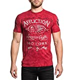 Affliction Men's Prohibition Red T-Shirt (Small)
