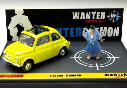 brumm 1/43 Fiat 500 Lupin III WANTED GOEMON (japan import)