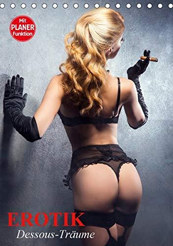 Erotik. Dessous-Träume (Tischkalender 2021 DIN A5 hoch): Schöne Frauen in verführerischer Reizwäsche (Geburtstagskalender, 14 Seiten )