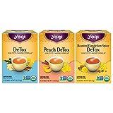 Yogi Tea - Herbal Detox Tea Variety Pack Sampler (3 Pack) - Includes DeTox, Peach DeTox, and Roasted Dandelion Spice Detox Teas - 48 Tea Bags