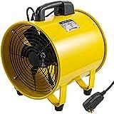 VEVOR Utility Blower Fan, 12inch Portable Ventilator 3900m³/h 1900rpm 2800rpm High Velocity Two-Speed Cylinder Fan, 520W, 110V