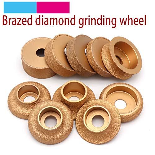 Fantastic Prices! Xucus 1pcs Brazing Diamond Angle Grinder Stone Grinding Wheel Semi-circular Straig...