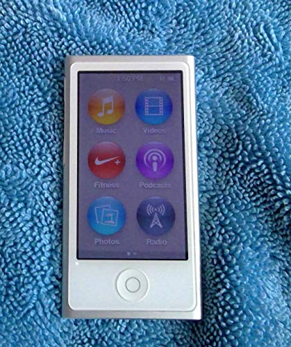 Music Player iPod Nano 7th Generation 16gb Silver Packaged in Plain White Box