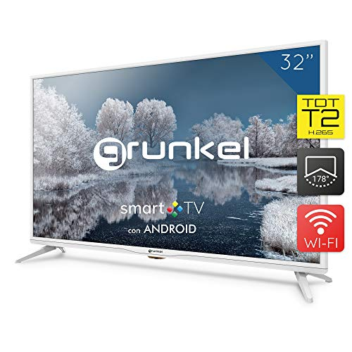 Grunkel - LED-320 IBSMT - Televisor LED Smart TV Wi-Fi - 32 Pulgadas - Blanco