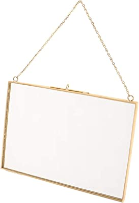 Amazon Com Koyal Wholesale Gallery Wall Frames Leather Strap Gold Metal Pressed Glass