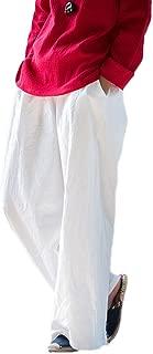 Soojun Women's Casual Loose Fit Wide Leg Cotton Linen Palazzo Pants