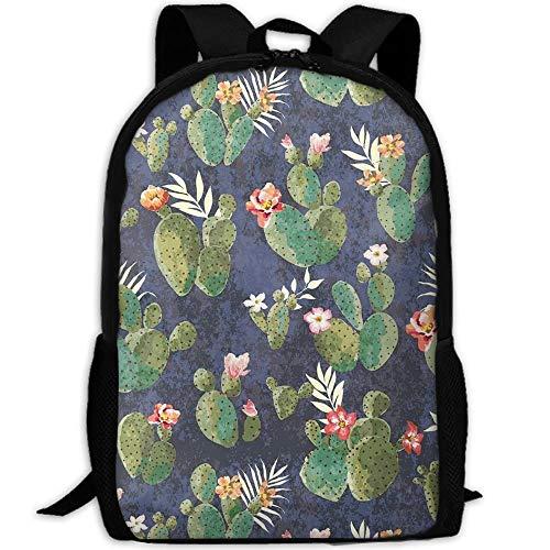 TTmom Zaini/Zaino Casual,Borse a Zainetto, Cactus School Backpack Bookbag For College Travel Hiking Fit Laptop Water Resistant