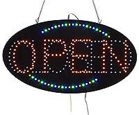 楕円形LEDサイン、開け閉めの言葉を表示、屋内使用。