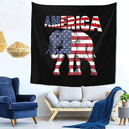 Lsjuee Elefanti Bandiera Arazzo Appeso a parete Decorazioni per la casa Fan Art per Camera da letto Soggiorno Dormitorio