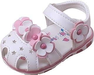 YWLINK Sandalias Bebe NiñA Verano Zapatos Casuales De Flores Huecas Fondo Suave Antideslizante Zapatos De Punta Lindo Zapatos De Princesa Zapatos De Primer Paso Regalo De CumpleañOs