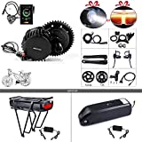 BAFANG BBSHD BBS03 52V 1000W Mid Motor Ebike Conversion Kit T46 Chainring Wheel LCD Display 850C Eletric Bike Motor Kit with 52V 14Ah Battery