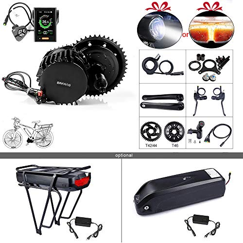 BAFANG Newest Version BBSHD 52V 1000W Motor Electric Bike Conversion Kit with LCD Display 860C and Chairing T46