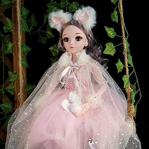 LEIYU Juego de caja de regalo para boda con diseño de muñeca de princesa puede cantar y guiño