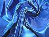 Uni Taft Kleid Stoff Meterware, Royal Blau + Frei Minerva