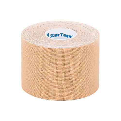 SL StarTape Kinesiologie Tape Beige - Sporttape Pflaster 5 cm breit und 550 cm lang - Sport Bandage - Verband zum Tapen
