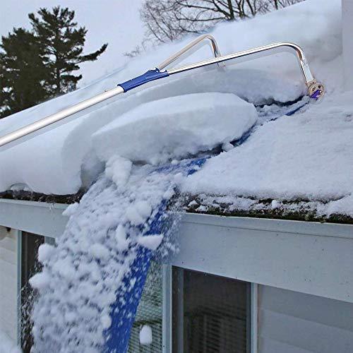 Auf dem Dach des Schneeräumens, auf dem Dach ausziehbare Schneeschuhe, Entfernung von schwerem Schnee auf dem Dach zum Schutz des Hauses, Adjustable 20 ft Teleskophandle