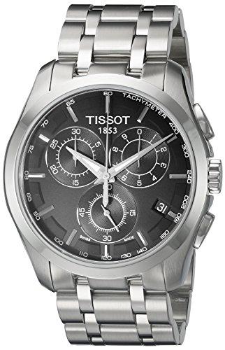 Relógio masculino T0356171105100 Tissot com pulseira de aço inoxidável de quartzo