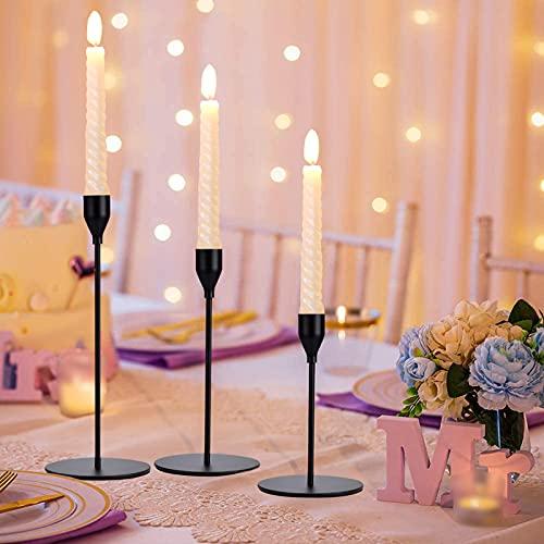 Set di 3 Candelabri, Candele per candelabri 3 pezzi, Candelabri moderno minimalista 23/28 / 33cm...
