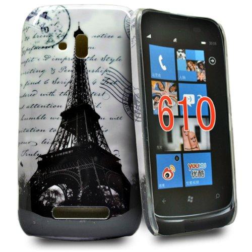 Accessory Master Custodia per Nokia Lumia 610 Torre Eiffel con Scritte