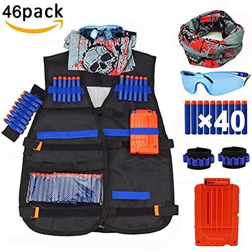 QiyuanLS Taktische Weste für Nerf N-Strike Serie Elite, Tactical Vest Kit für Kinder von Nerf Elite Spielzeug