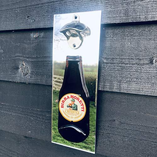 Birra Moretti - Abridor de botellas de cerveza (montado en la pared...