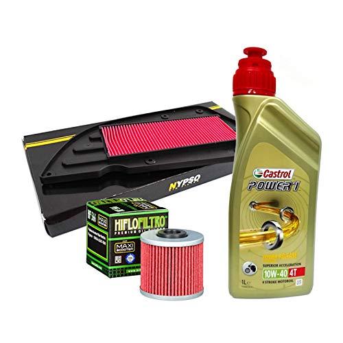 Kit de revisión Castrol Power 1 10W40, filtro de aceite y a