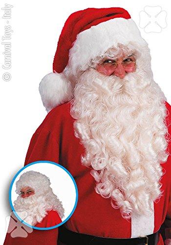 Carnival Toys 2369 - Kerstman pruik en baard, lengte 60 cm, universeel, wit