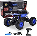 1:14 All Terrain RC Cars High Speed ​​2.4G Remote Control Car 4WD Racing Desert Stunt Drifting Vehicle RC Off-Road Juguetes educativos para Adultos y niños (Color: Azul)