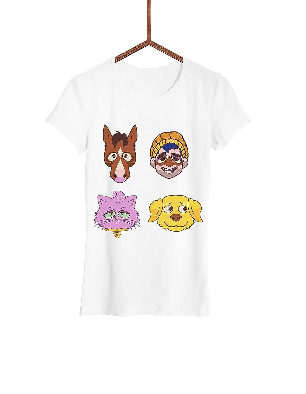 Women T-shirt   BoJack Team   Bojack Horseman   Short Tees Sleeve   Graphic Fashion   Streetwear